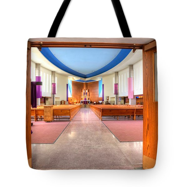 Church Of Saint Columba Tote Bag by Amanda Stadther