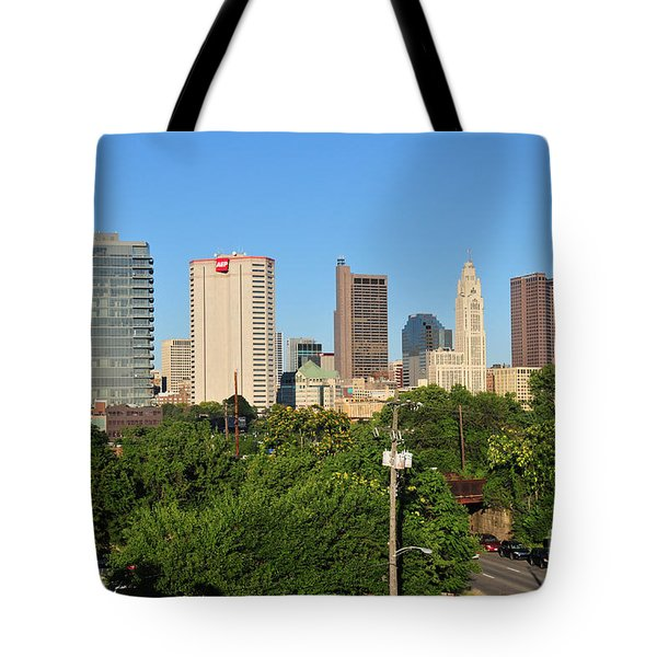 Columbus Ohio Skyline Photo Tote Bag