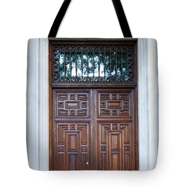 Distinctive Doors In Madrid Spain Tote Bag