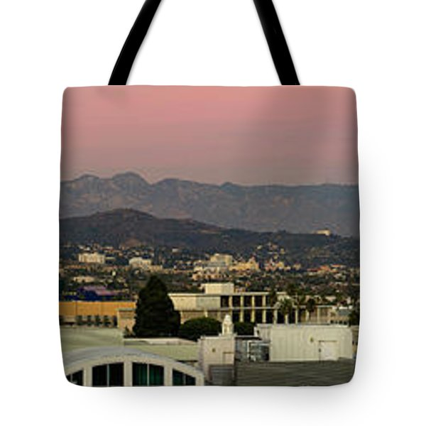 Elevated View Of Buildings In City Tote Bag