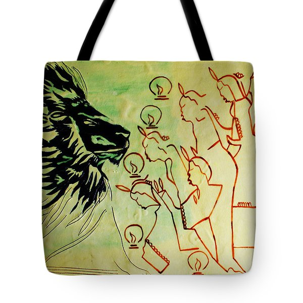 Five Wise Virgins  Tote Bag by Gloria Ssali