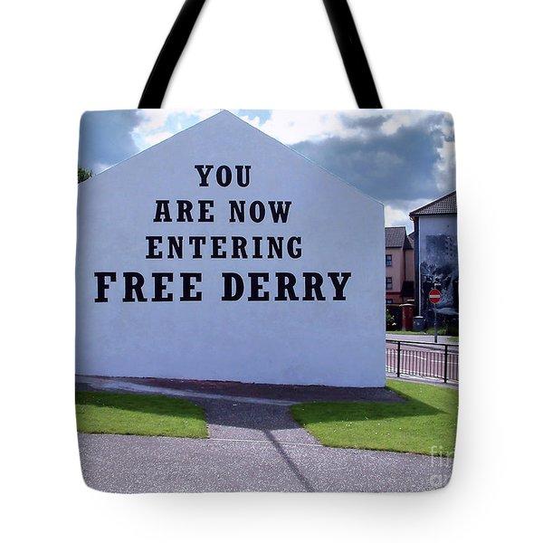 Free Derry Corner 4 Tote Bag