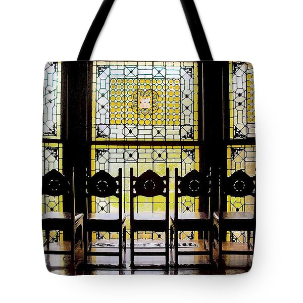 7 Hairs And Stained Glass Db Tote Bag