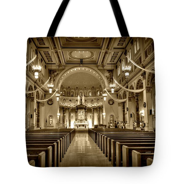 Holy Cross Catholic Church Tote Bag by Amanda Stadther