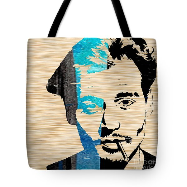 Johnny Depp Tote Bag by Marvin Blaine