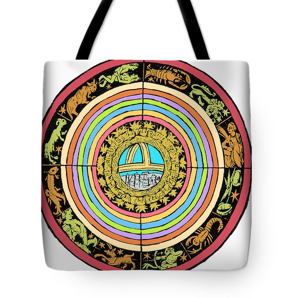 Medieval Zodiac Tote Bag by Science Source