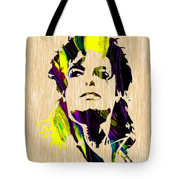 Michael Jackson Painting Tote Bag by Marvin Blaine
