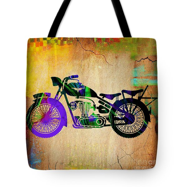 Motorcycle Tote Bag by Marvin Blaine