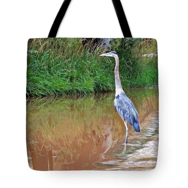 Blue Heron On The East Verde River Tote Bag