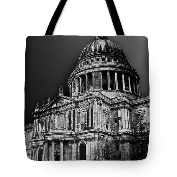 St Pauls Cathedral London Art Tote Bag by David Pyatt