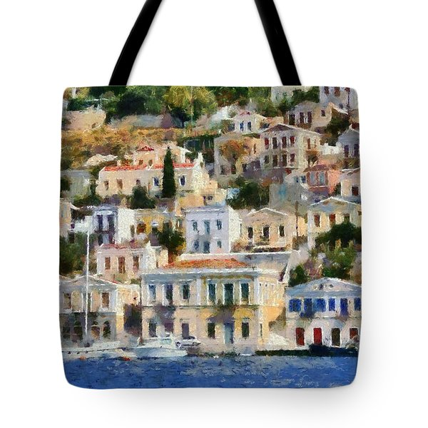 Symi Island Tote Bag