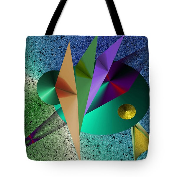 Abstract Bird Of Paradise Tote Bag