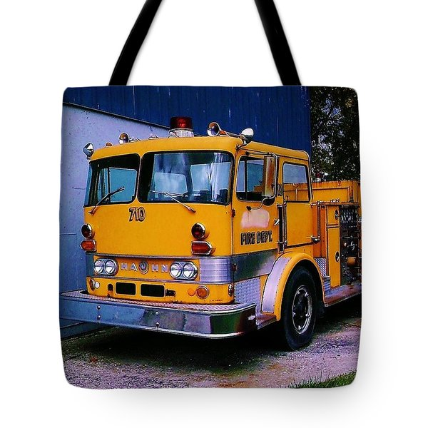 Tote Bag featuring the photograph 710 ....... Fire Dept. by Daniel Thompson