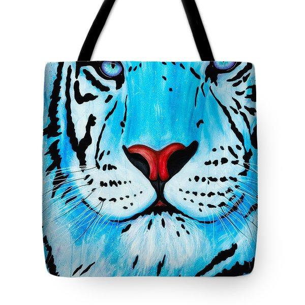 Blue Bengal Tote Bag