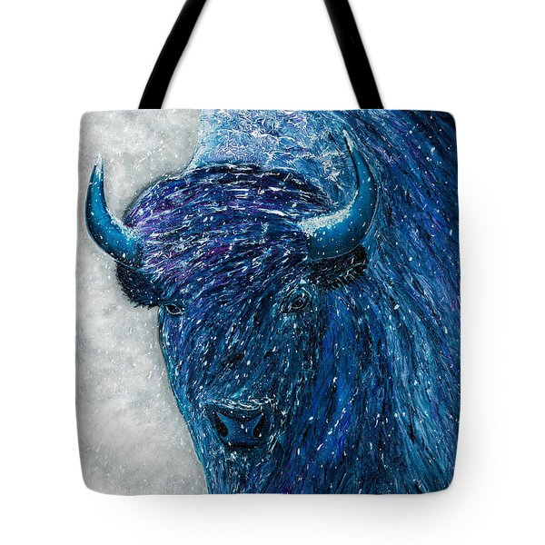 Buffalo  - Ready For Winter Tote Bag
