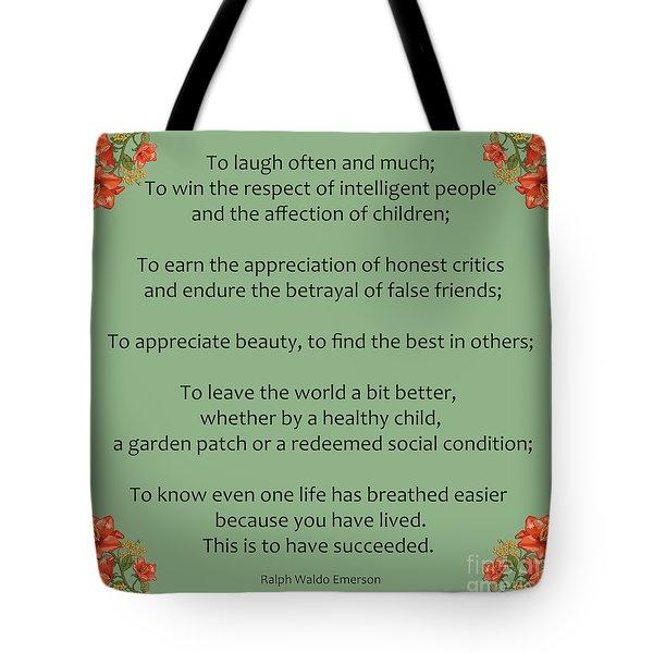 75- Ralph Waldo Emerson Tote Bag