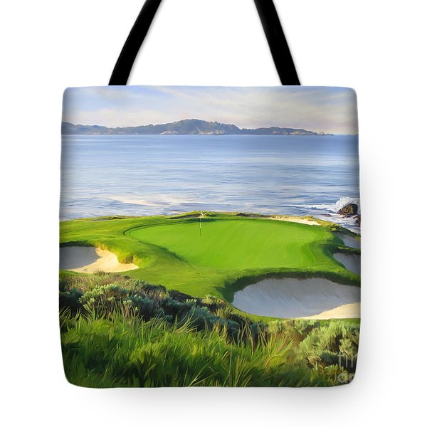 7th Hole At Pebble Beach Tote Bag