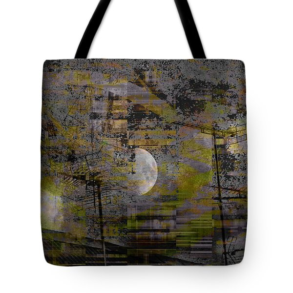 Tote Bag featuring the digital art What Is Real Is Not The Exterior But The Idea, The Essence Of Things.  by Danica Radman