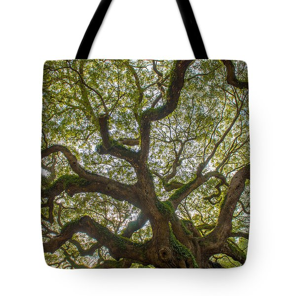 Island Angel Oak Tree Tote Bag