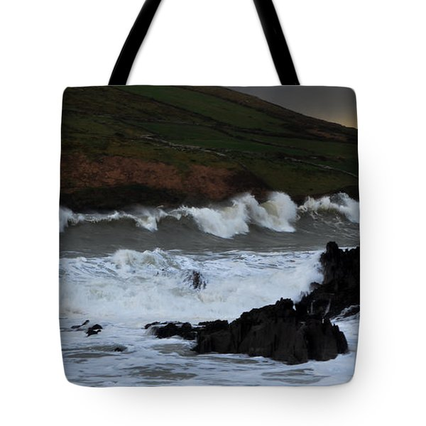 Tote Bag featuring the photograph Beenbane Beach by Barbara Walsh
