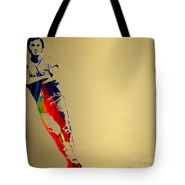 Bruce Springsteen Gold Series Tote Bag by Marvin Blaine