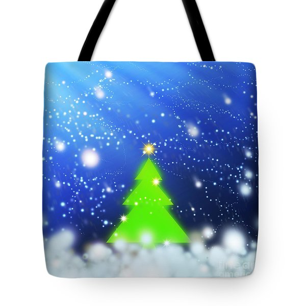 Christmas Tree Tote Bag by Atiketta Sangasaeng