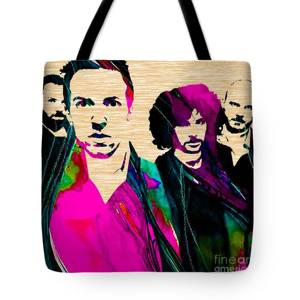 Coldplay Collection Tote Bag by Marvin Blaine