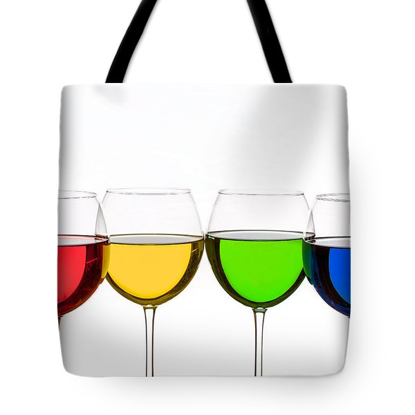 Colorful Wine Glasses Tote Bag
