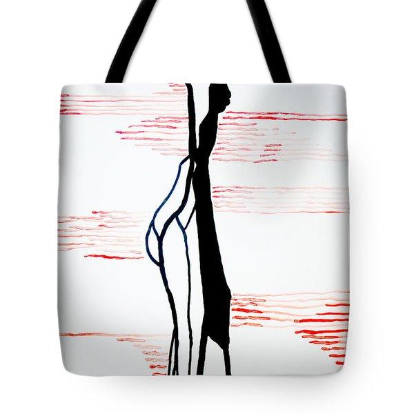 Dinka Lady - South Sudan Tote Bag by Gloria Ssali