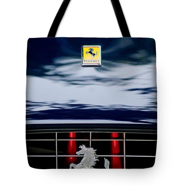 Ferrari Hood Emblem Tote Bag by Jill Reger