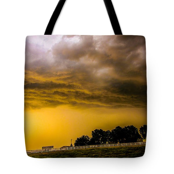 Late Afternoon Nebraska Thunderstorms Tote Bag