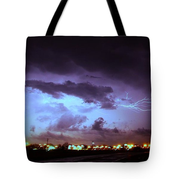 Our 1st Severe Thunderstorms In South Central Nebraska Tote Bag