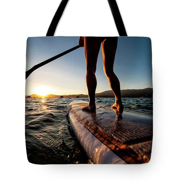 Paddle Boarding In Cali Tote Bag