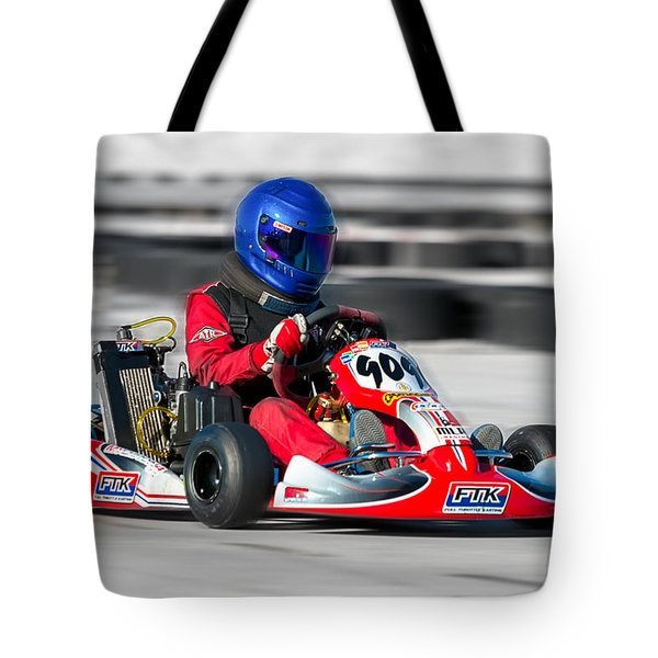 Racing Go Kart Tote Bag