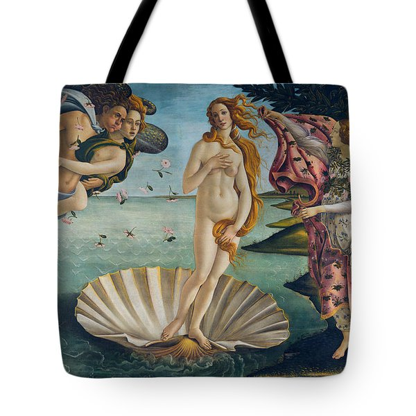 Tote Bag featuring the painting The Birth Of Venus by Sandro Botticelli