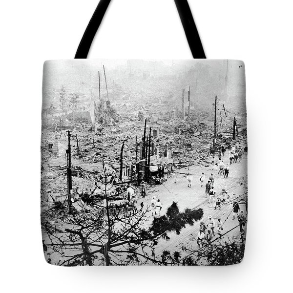 Tote Bag featuring the photograph Tokyo Earthquake, 1923 by Granger