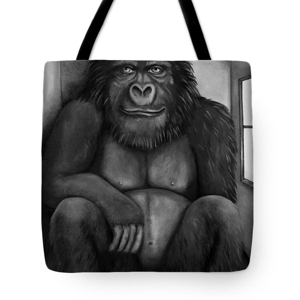 800 Pound Gorilla In The Room Edit 3 Bw Tote Bag