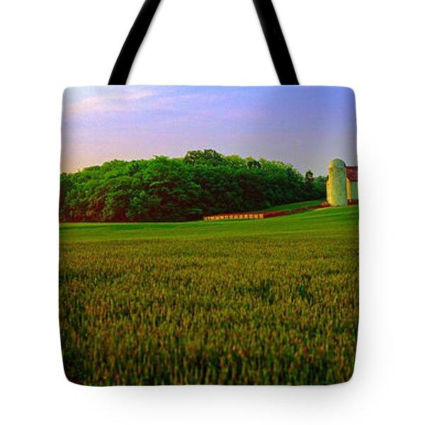 Conley Road, Spring, Field, Barn   Tote Bag