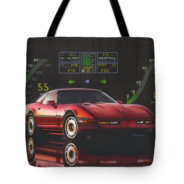 84 Corvette Tote Bag
