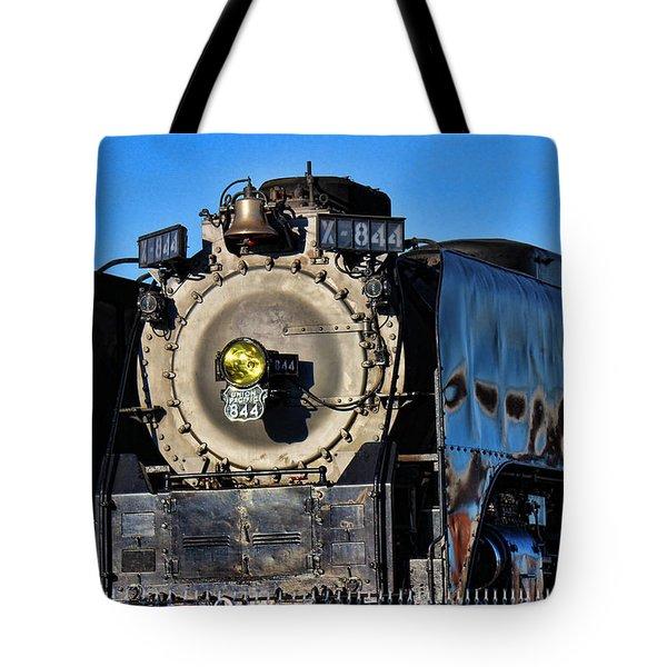 844 Locomotive Tote Bag