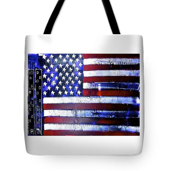 9-11 Flag Tote Bag by Richard Sean Manning