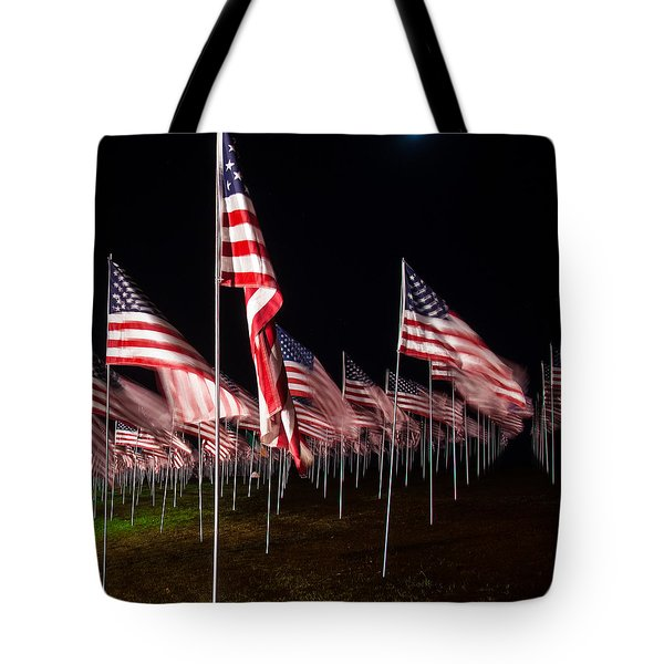 9-11 Flags Tote Bag
