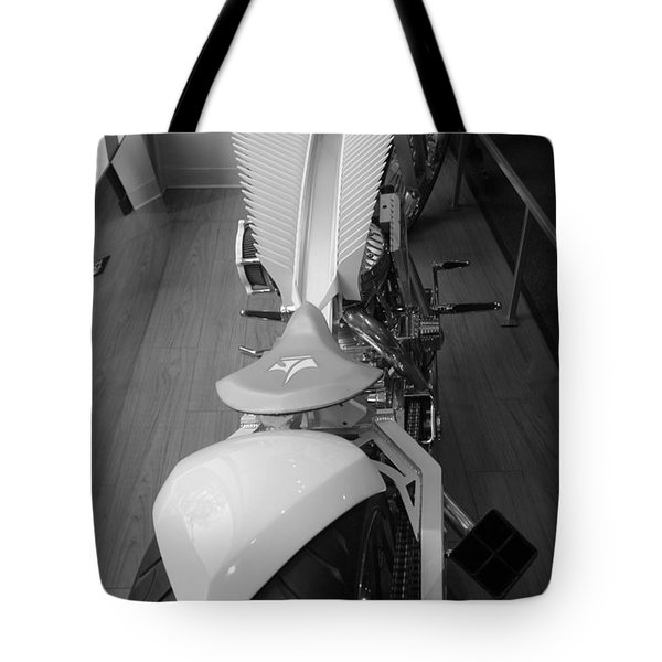 9/11 Memorial Bike In Black And White Tote Bag by Rob Hans