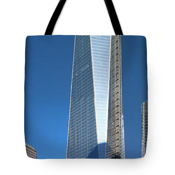 Tote Bag featuring the photograph 9/11 Memorial by Mariarosa Rockefeller