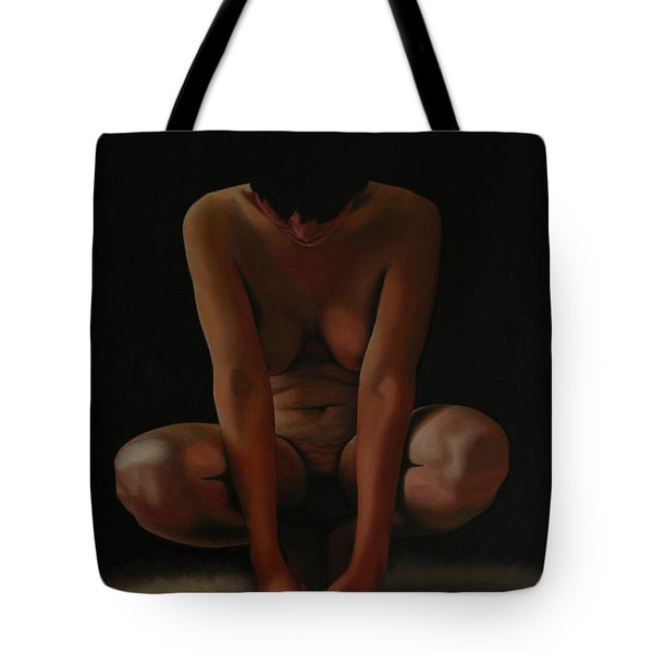 Tote Bag featuring the painting 9 Am by Thu Nguyen