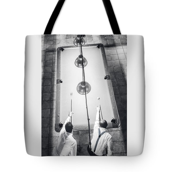 Tote Bag featuring the photograph 9 Ball Lag by Stwayne Keubrick