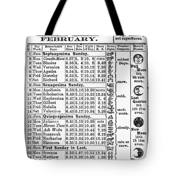 Family Almanac, 1874 Tote Bag by Granger