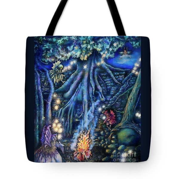 Flutter Flies Tote Bag by Linda Simon