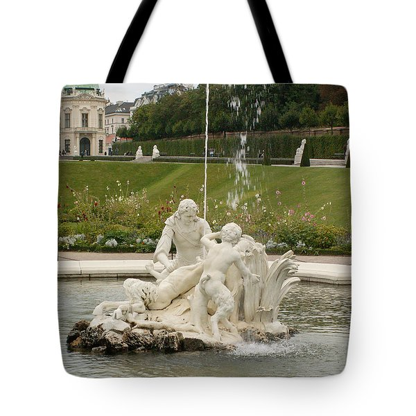 Fountain Tote Bag by Evgeny Pisarev