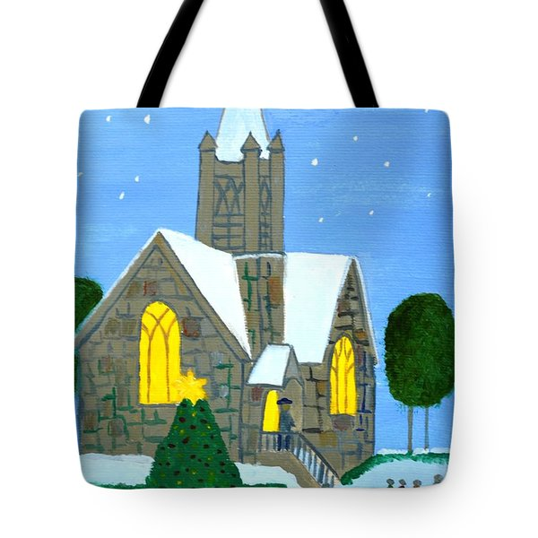 Tote Bag featuring the painting Merry Christmas by Magdalena Frohnsdorff